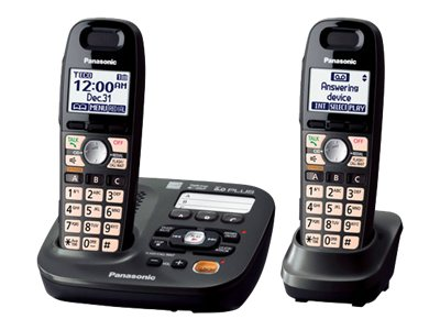 Panasonic KX-TG6592T DECT 6.0 Cordless Phone with 2-Handsets