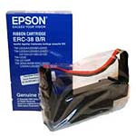 Epson Black Red Printer Ribbon works with the TM-U200, TM-U220, TM-U300 & IT-U375 Series Printers, ERC-38BR, 160142, Printer Ribbons