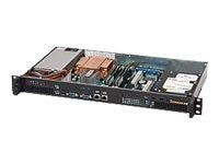 Supermicro Chassis, 1U Mini Rackmount, 1 Bay, Celeron, 200W PS, Black, CSE-503-200B, 8307921, Cases - Systems/Servers