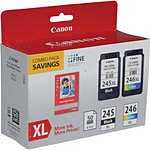 Canon PG-245XL CL-246XL Ink Cartridge Combo Pack w  GP-502 Photo Paper