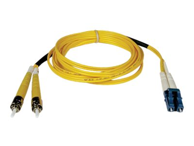 Tripp Lite LC-ST 8.3 125 Singlemode Fiber Optic Cable, Yellow, 2m, N368-02M, 5530844, Cables