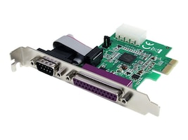 StarTech.com 1S1P Native PCI Express Parallel Serial Combo Card with 16950 UART, PEX1S1P952, 12976561, Controller Cards & I/O Boards