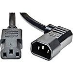 Tripp Lite Heavy-Duty Power Cord IEC-320-C13 to Right-Angle IEC-320-C14, 250V 15A, 14AWG SJT, 6ft