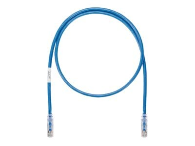 Panduit CAT6A UTP Copper Patch Cable, Blue, 5ft