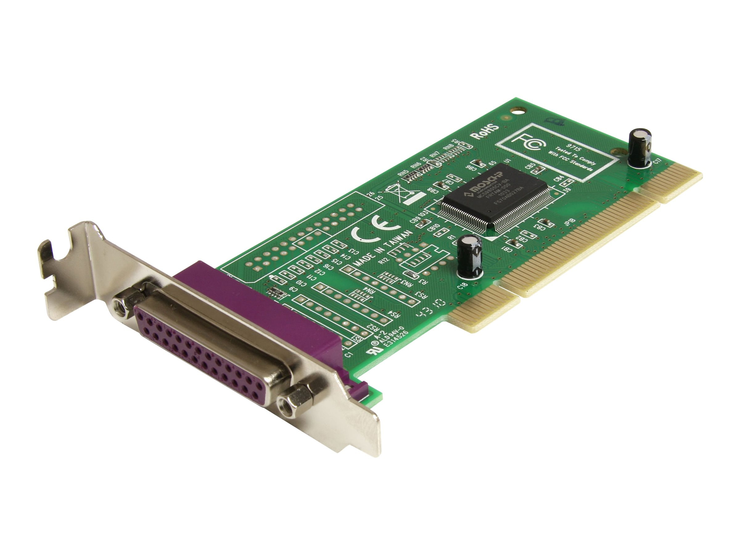StarTech.com 1-Port Low Profile Parallel PCI Card Adapter IEEE 1284, Plug & Play, PCI1P_LP