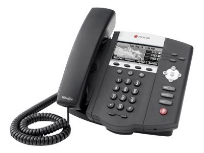 Polycom SoundPoint IP 450 Mid-Range SIP Desktop Phone with HD Voice, PoE Version, 2200-12450-025