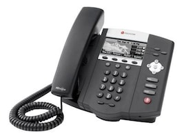 Polycom SoundPoint IP 450 Mid-Range SIP Desktop Phone with HD Voice, PoE Version, 2200-12450-025, 9192029, VoIP Phones