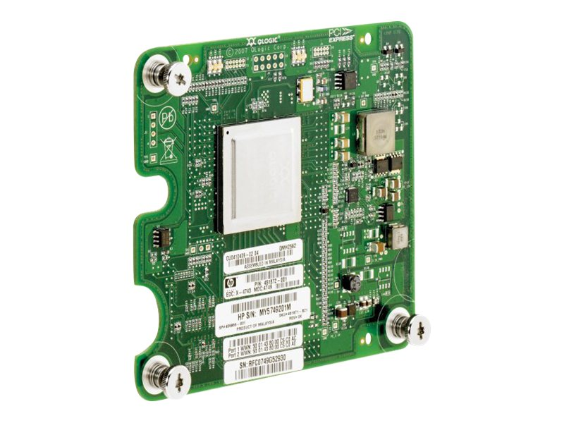 HPE QLogic QMH2562 8Gb FC HBA for BladeSystem c-Class, 451871-B21, 9913789, Host Bus Adapters (HBAs)