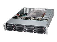 Supermicro Chassis, SuperChassis 826BE2C 2U RM  E-ATX (2x)Intel AMD Family 12x3.5 HS Bays 7xLP PCIe 2x920W