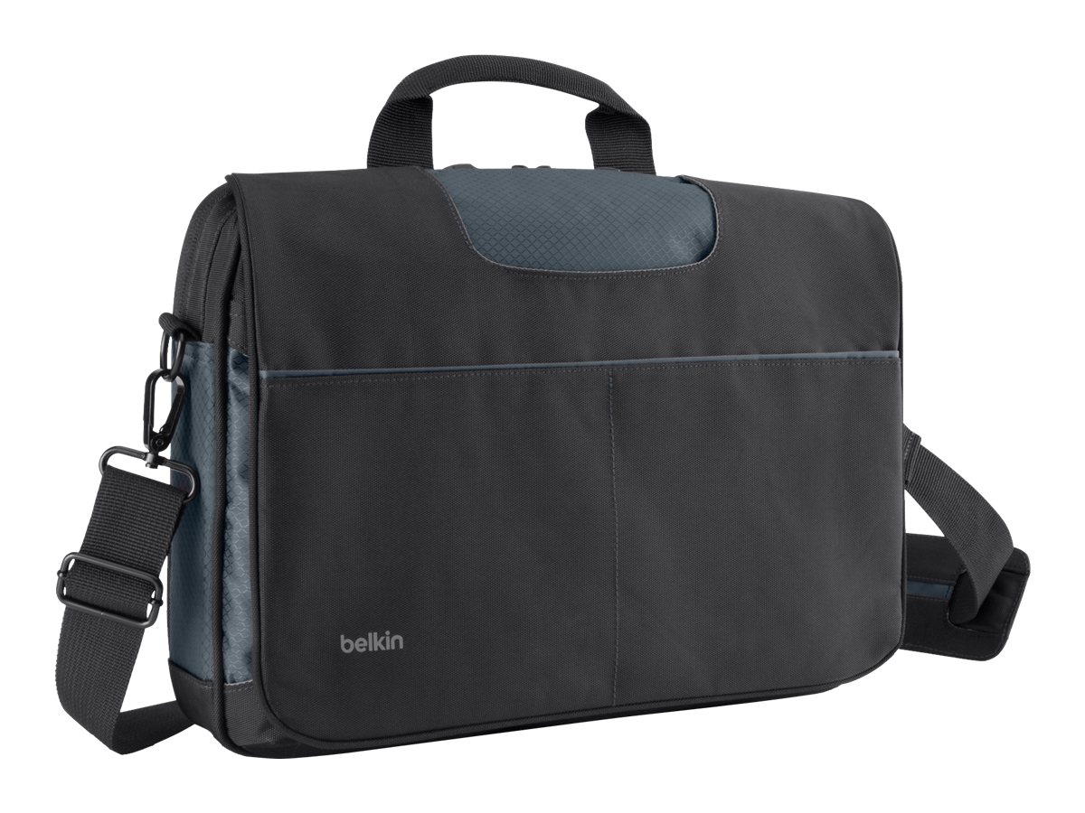 Belkin Messenger Bag for 13 Laptop, Black Gray, B2B076-C00, 15755916, Carrying Cases - Notebook