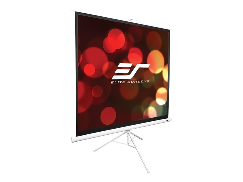 Elite Portable Tripod Pull-up Projection Screen, MaxWhite, 1:1, 136in