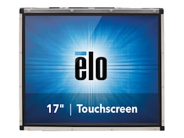 ELO Touch Solutions 1739L 17 Open-Frame Touchmonitor AccuTouch, Dual Serial USB, Antiglare, E607940, 11100736, POS/Kiosk Systems