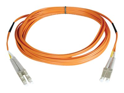 Tripp Lite Fiber Patch Cable, LC-LC, 50 125, Duplex, Multimode, Orange, 3m, N520-03M