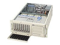 Supermicro Chassis, 4U, Tower, 2Xeon, 800MHz, EATX, 6 PCI, IDE 8HD Bays, 3x5.25 Bays, No CD FDD, 760W PS, Beige, CSE-743T-R760, 5411685, Cases - Systems/Servers