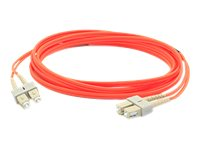 ACP-EP SC-SC 62.5 125 OM1 Multimode LSZH Duplex Fiber Cable, Orange, 5m