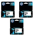 HP 920 Black Ink Cartridges (3-pack)