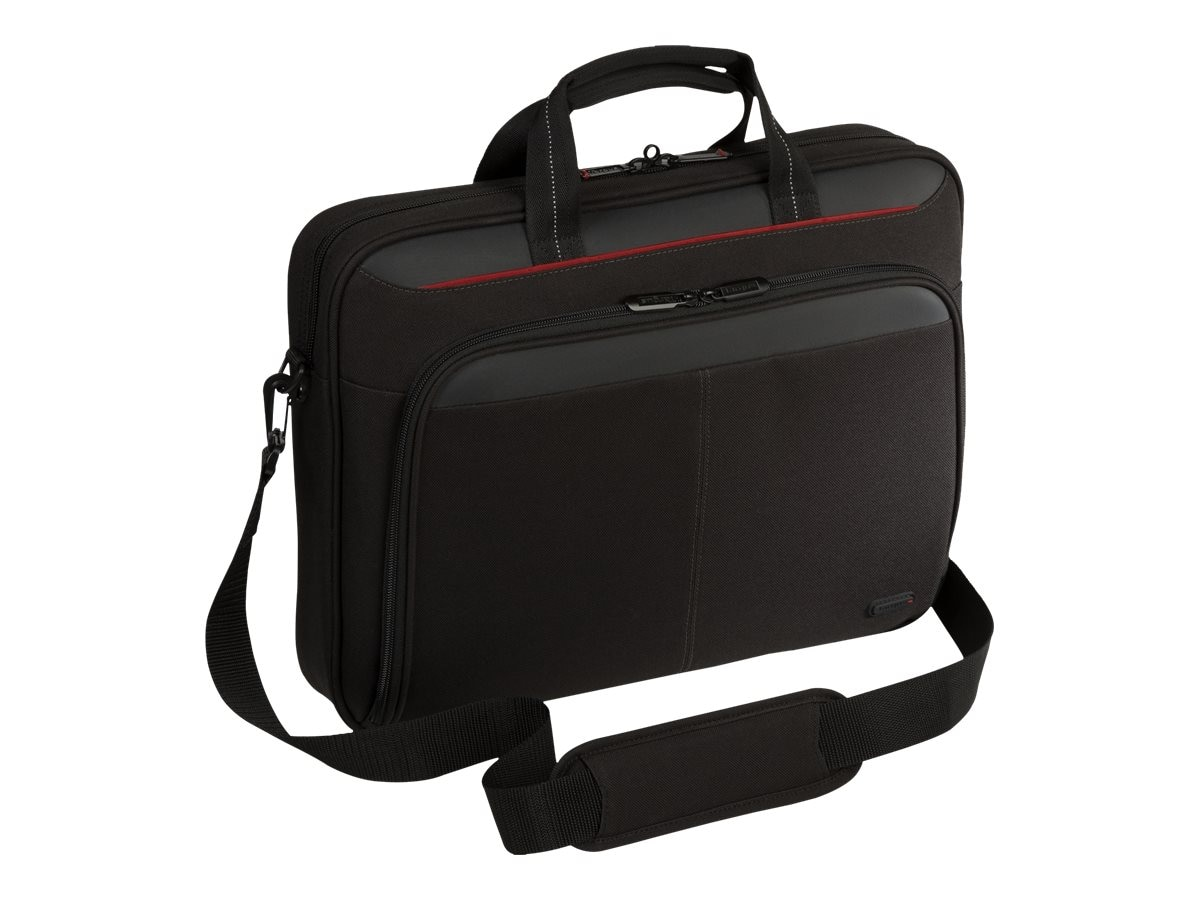 Targus Classic Topload Case for 16 Laptop, TAA, Black Gray, TAA-TCT027US