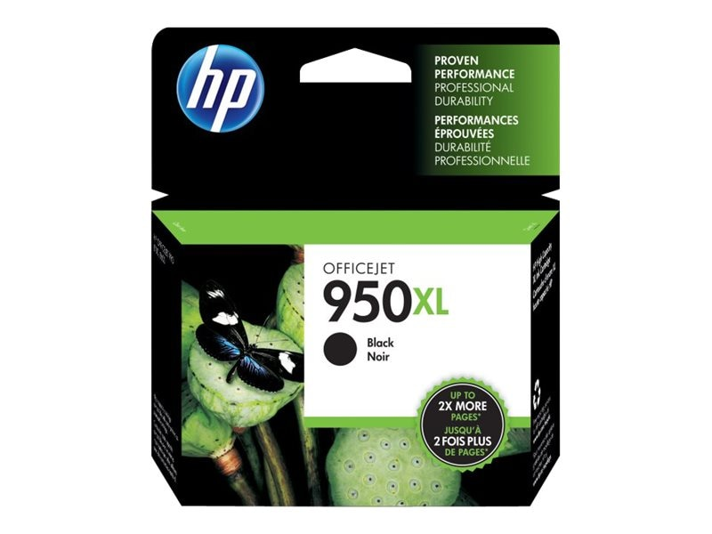 HP 950XL (CN045AN) High Yield Black Original Ink Cartridge, CN045AN#140, 12974347, Ink Cartridges & Ink Refill Kits