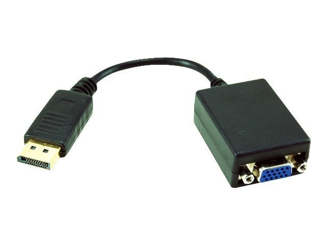 APC DisplayPort to VGA Adapter, M-F, Black, APC-3332, 15897527, Adapters & Port Converters
