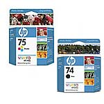 HP 75 (CB337WN) Tri-color Original Ink Cartridge & HP 74 (CB335WN) Black Original Ink Cartridge Pack