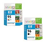 HP 95 (C8766WN) Tri-color Original Ink Cartridge & HP 96 (C8767WN) Black Original Ink Cartridge Pack