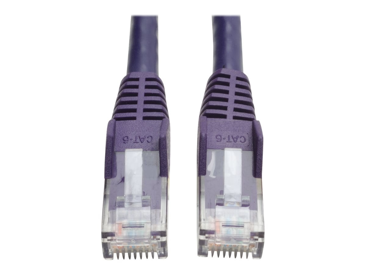 Tripp Lite Cat6 Gigabit Patch Cable, RJ-45 (M-M), Snagless, Purple, 14ft