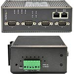StarTech.com 4-Port Industrial RS-232 422 485 Serial-to-IP Ethernet Device Server,  PoE, (2) 10 100Mbps Ports
