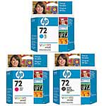 HP 72 Color (CMY) Ink Cartridge Value Pack (69ml)