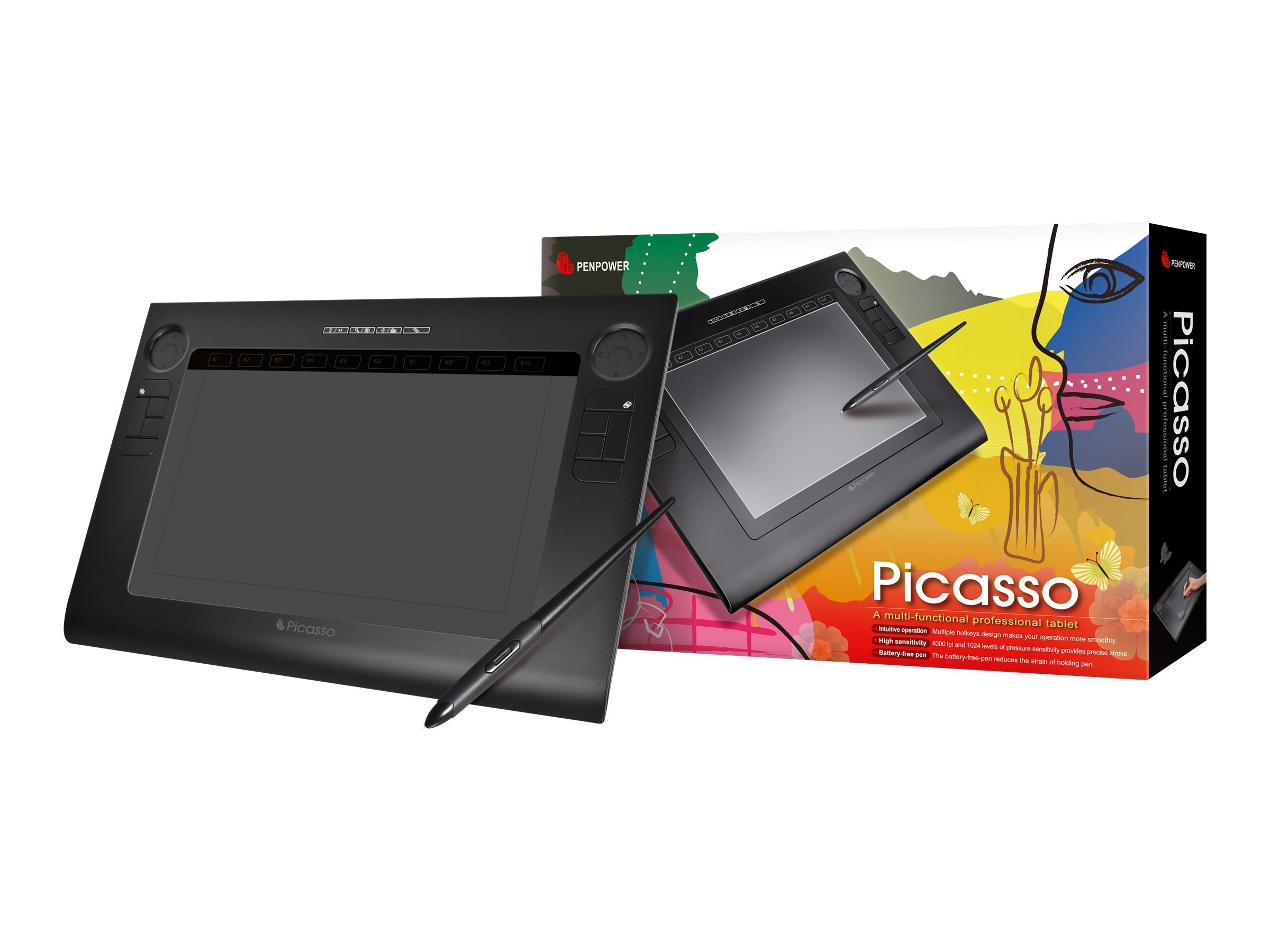 Penpower Picasso Digitizer Tablet 10 x 6 Wired USB