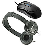 Kensington Chromebook Kit- Stay Connected Bundle - Optical Mouse and Hi-Fi Headphones, K72356US+K33137, 16927652, Mice & Cursor Control Devices