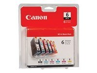 Canon BCI-6 Ink Tanks (6-pack), 4705A018, 9387184, Ink Cartridges & Ink Refill Kits