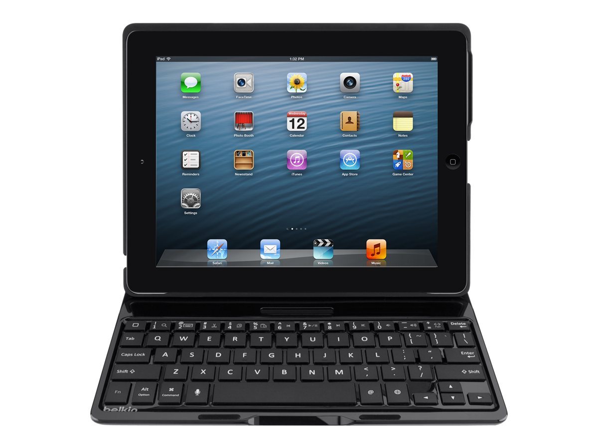 Belkin QODE Ultimate Keyboard Case for iPad 2 3 4, Black, F5L149TTBLK