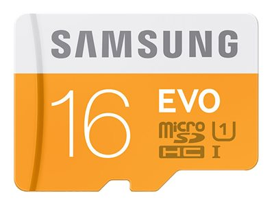 Samsung 16GB MicroSDHC EVO Memory Card with Adapter, Class 10, MB-MP16DA/AM