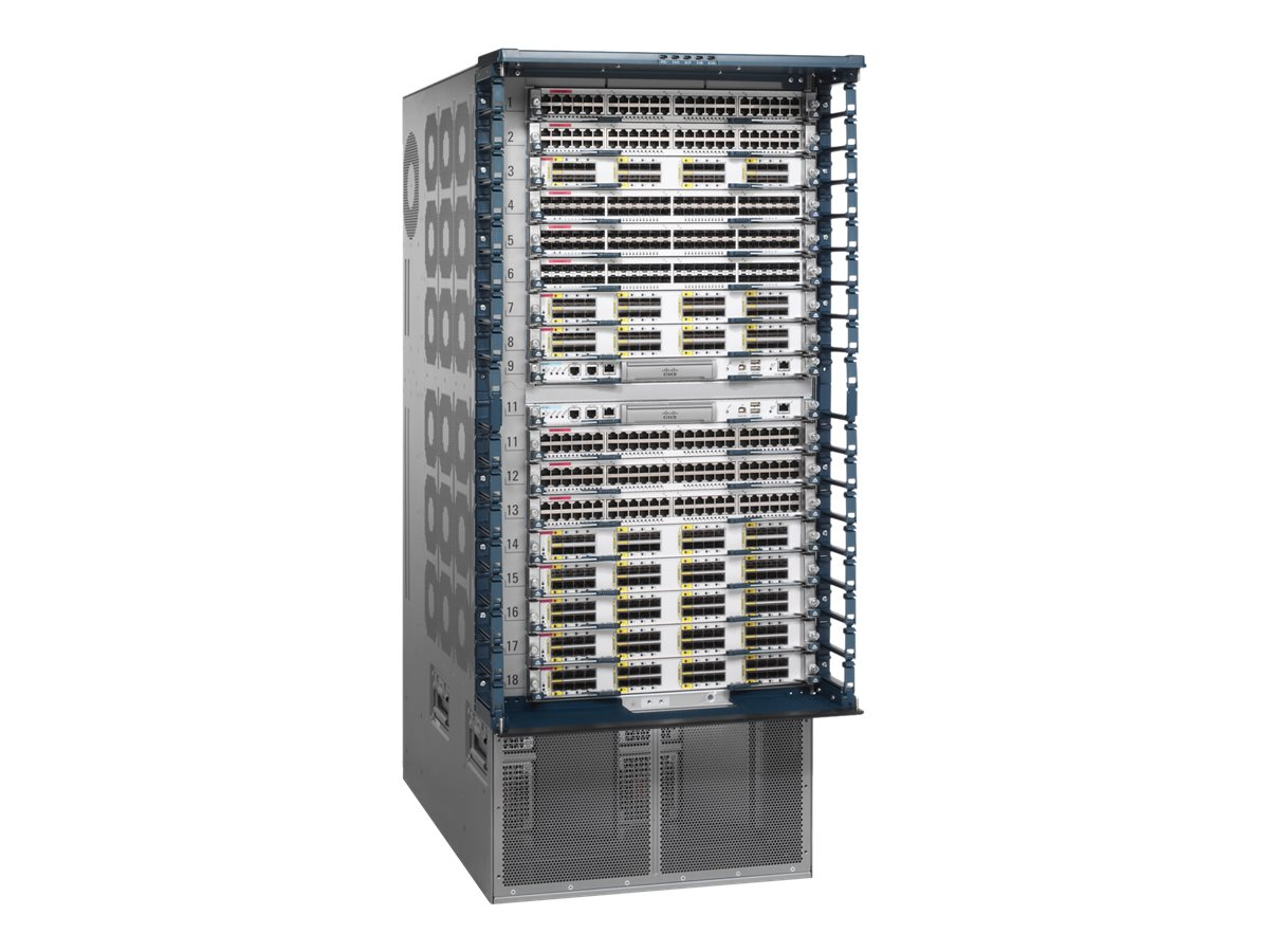 Cisco Nexus 7000 Series 18-Slot Chassis with Fan Tray (No Power Supply), 25U, N7K-C7018, 9379301, Network Device Modules & Accessories