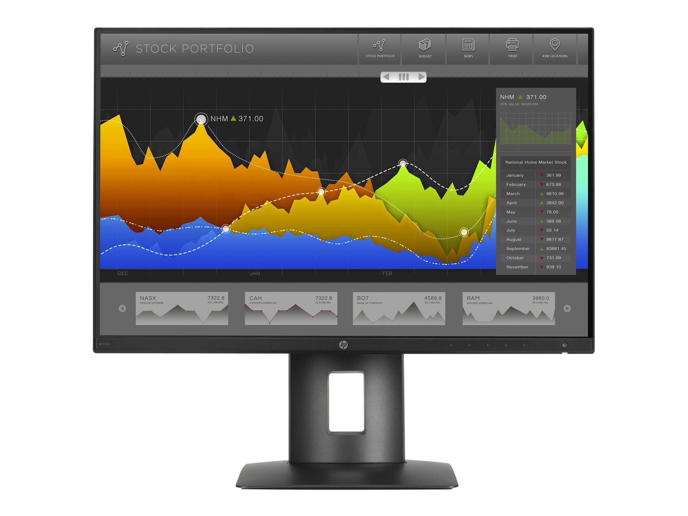 HP 23.8 Z24nq QHD LED-LCD Monitor, Black, L1K59A8#ABA, 30737302, Monitors - LED-LCD