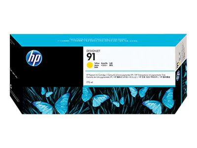 HP 91 Yellow Pigment Ink Cartridge (775-ml), C9469A, 7624975, Ink Cartridges & Ink Refill Kits