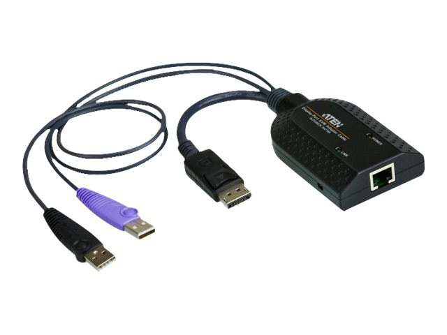 Aten DisplayPort USB Virtual Media KVM Adapter Cable with Smart Card Reader, KA7169, 16717866, Adapters & Port Converters