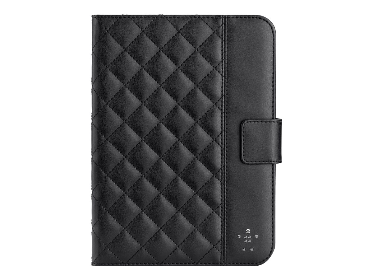 Belkin Quilted Cover with Stand for iPad mini, Black, F7N007TTC00, 14987037, Carrying Cases - Tablets & eReaders