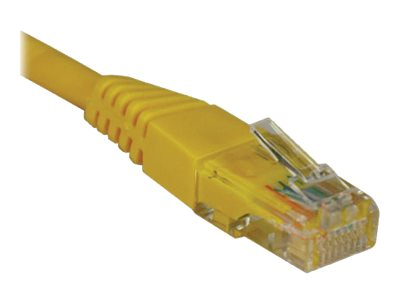 Tripp Lite Cat5e RJ-45 M M 350MHz Molded Patch Cable, Yellow, 50ft, N002-050-YW