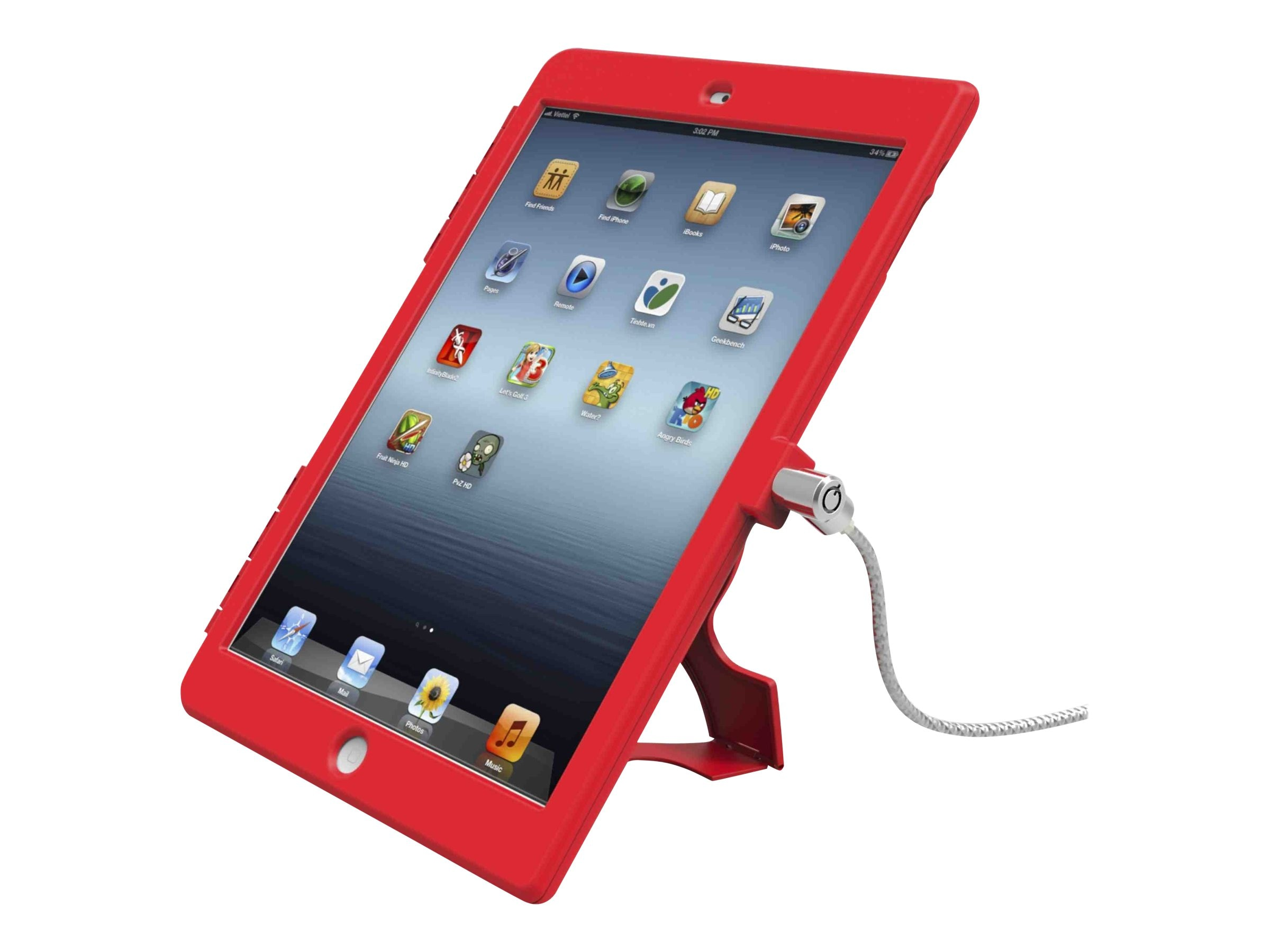 Compulocks Security Bundle for iPad Air, Red
