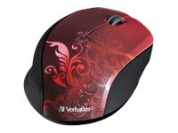Verbatim Wireless Optical Mouse, Nano Receiver, Red, 97784, 14679780, Mice & Cursor Control Devices
