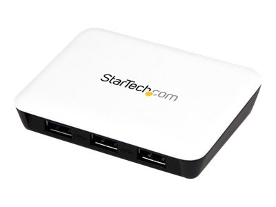 StarTech.com USB 3.0 to Gigabit Ethernet NIC Network Adapter with 3-port Hub, White