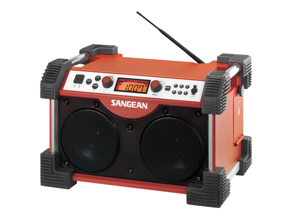 Sangean Fatbox AM FM Utility Radio - Red, FB-100, 18019623, Clock Radios