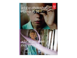 Adobe Photoshop & Premiere Elements 14.0 Mac Win DVD 1-user, 65263930, 31895661, Software - Image Manipulation & Management