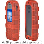 Zcover Dock-in-Case for Cisco 7925G 7925G-EX IP Phone, Ruggedized Back Open Health Grade Silicone, Red
