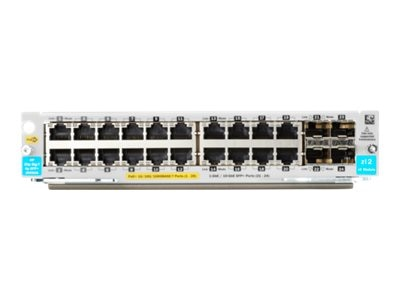 HPE 20-Port 10 100 1000BASE-T POE+ 4-Port 1G 10GbE SFP+ MACsec v3 zl2 Module, J9990A, 20020308, Network Switches