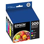 Epson Combo Pack DURABrite Ultra Ink Cartridges for XP-200 300 310 400 410 & WF-2520 2530 2540, T200120-BCS, 17605760, Ink Cartridges & Ink Refill Kits