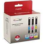 Canon CLI-251 Ink Tanks (3-pack), 6514B009, 17672073, Ink Cartridges & Ink Refill Kits