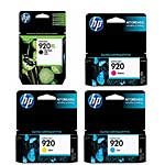 HP 920XL High Yield Black Original Ink w  HP 920 Cyan, Magenta & Yellow Original Ink Cartridges, CD975AN/CH636AN/634AN/635AN, 17699410, Ink Cartridges & Ink Refill Kits