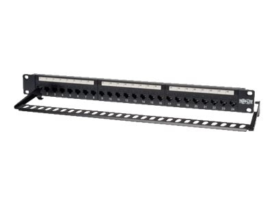 Tripp Lite 24-Port Cat5e Cat5 Feedthrough Patch Panel Rackmount 1URM RJ45 Ethernet TAA, N054-024